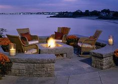 outdoor fire pit walls hardscape stone by Stonehenge Hardscape Atlanta, via Flickr