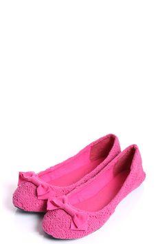 Brooke Pink Crochet Ballet Shoe