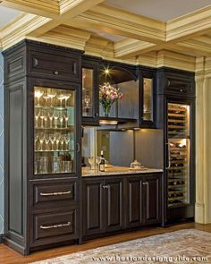 built by ew tarca construction photography by michael j lee built home bar cabinets tv