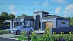 3 Bedroom House Plans - My Building Plans South Africa Floor Plan 4 Bedroom, 4 Bedroom House Plans, House Floor Plans, Metal Roof Houses, House Roof, Farm House, My Building, Building Plans, Tuscan House Plans