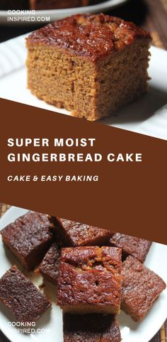 Super Moist Gingerbread Cake # I have been eyeing on this cake for quite sometime ever since i came across in nigella christmas cookbook. I wanted to try it so badly finally i made in couple days back. Healthy Cake Recipes, Baking Recipes, Sweet Recipes, Dessert Recipes, Baking Desserts, Cake Baking, Holiday Baking, Christmas Baking, Cupcakes