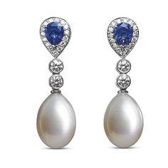 Sapphire & Pearl Earrings | Asprey