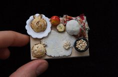 Miniature doll house 1:12 scale chopping board with the
