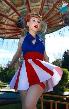 July 4th is Coming!  #pinup #vintage #patriotic