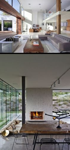 Here are two different approaches to bringing the outside in. Yes, the bottom space can be enclosed. I like them both. Do you have a preference? Want to tell us why and what you might change?