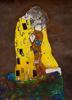 Il bacio Art Print