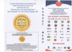FRONT COVER OF AUGUST MENU The Republic, Catering, Menu, Cover, Menu Board Design, Catering Business, Gastronomia