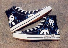 eb71990c754c National treasure panda-painted shoes Lovely panda shoes canvas
