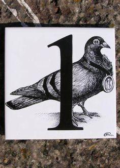 1 - Rory Dobner Number Art Ceramic Tile