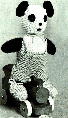 PDF Charming Mr & Mrs 'Panda' Toys Knitting by TheAtticofKitsch