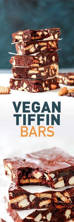 Vegan Tiffin Bars Healthy Vegan Snacks, Vegan Treats, Vegan Foods, Vegetarian Food, Healthy Baking, Healthy Recipes, Vegan Dessert Recipes, Delicious Vegan Recipes, Just Desserts