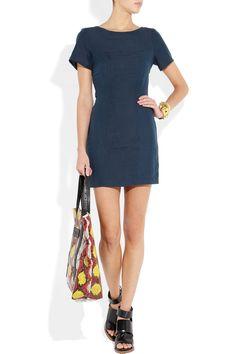 Kain|Georgia linen and silk-blend dress|NET-A-PORTER.COM