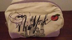 ROSANNA New York Cotton Multi-Color Passport Travel Cosmetic Bag-NWT #Rosanna