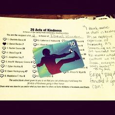 """""""Number Two of #26Acts of Kindness slipped under my neighbor's door. Poor guy has to listen to me sing at the top of my lungs so it was the least I could do. This one's in honor of you, Daniel!"""""""