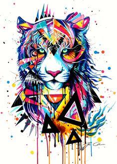 Art Print Tiger by PixieColdArt on Etsy