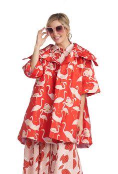 Flamingo Car Coat - Red – BURU