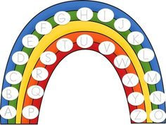 Fill the Rainbow Letter Incentive Chart - Programmable Letter Practice Sheets, Daily Routine Chart, Sticker Chart, Alphabet Charts, File Folder Games, Alphabet Stickers, Preschool Letters, Letter Recognition, Letter Sounds