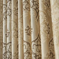 Jacquard Fancy Paisely Energy Saving Curtain (Two Panels) - USD $ 59.99