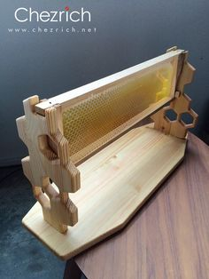 Wooden Honeycomb Display Holder  by Chezrich
