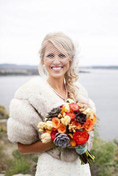 Vintage wedding bouquet | fall wedding ideas | orange wedding bouquet... Wedding ideas for brides, grooms, parents & planners ... https://itunes.apple.com/us/app/the-gold-wedding-planner/id498112599?ls=1=8  ... The Gold Wedding Planner iPhone App.
