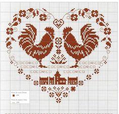 Схема вишивки хрестом Півня – символ 2017 року