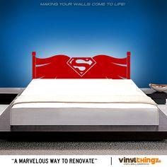 Superman Cape Vinyl Headboard Decal Sticker by VinylThingzWalls, $38.95