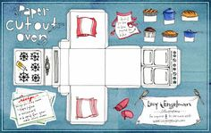 molde caixa casinha para cupcake - Convites Digitais Simples