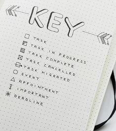 bullet journal key symbols and arrow bullet journal key symbols to organize your to do list. Examples of bullet journaling symbols to create the perfect bujo key. Bullet journal symbols, key page ideas, and color coding ideas to try!