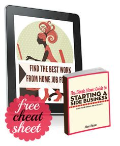 HOME BASED INCOME IDEAS -  free cheat sheet... & a guide to getting your business off the ground...