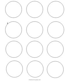 2 Inch Circle Template Flour Confections 2 Inch Round Label Template 2 Inch In Mm Circle Template, Shape Templates, Circle Labels, Label Templates, Flower Template, Templates Printable Free, Free Printables, Macaron Template, Graphics
