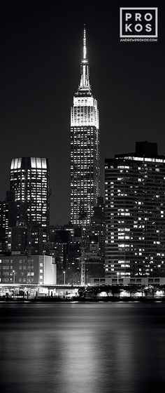 chrysler building black and white wallpaper. vertical panoramic view of the empire state building at night black u0026 white photo by andrew prokos chrysler and wallpaper