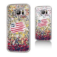 New England Revolution Gold Glitter Galaxy S7 Case
