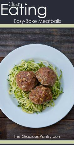 Clean Eating Easy-Bake Meatballs