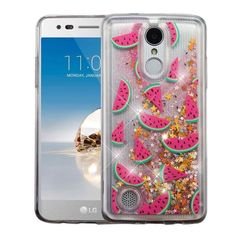 Insten / Pink Watermelon Hard Snap-on Glitter Case Cover For LG Aristo/ Fortune/ K8