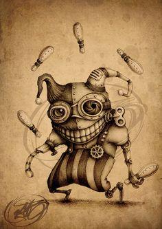 Paride Bertolin's steampunk art Steampunk Drawing, Steampunk Kunst, Steampunk Artwork, Steampunk Diy, Steampunk Clothing, Steampunk Fashion, Creepy Drawings, Dark Art Drawings, Cool Drawings