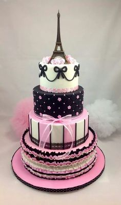 I'd love to have a birthday cake like this. I would have to have a birthday party, first though. So fabulous!