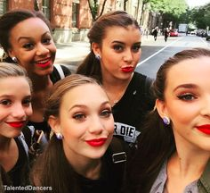 Kenzie, Nia, Maddie, Kalani and Kendall at The View