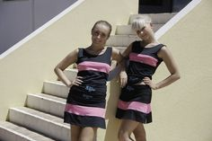 30fifteen Ladies Tennis Wear - Anna 2 piece collection in black and pink   http://www.30fifteen.co.uk/