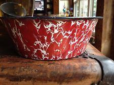 Rare Old Red Large Graniteware