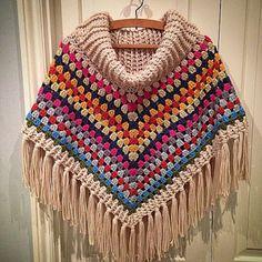 Knitting poncho ... very nice! - Free Crochet Patterns