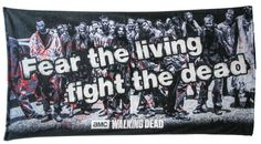 AMC® The Walking Dead - fear the living, fight the dead beach towel Walking Dead Zombies, The Walking Dead Store, Walking Dead Tv Series, The Walking Dead Tv, Love You All, Beach Towel, Fiction, Geek Stuff, This Or That Questions