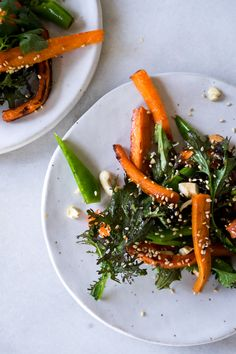Miso-glazed carrot salad from Tending the Table Salad Recipes Gluten Free, Carrot Recipes, Veggie Recipes, Real Food Recipes, Healthy Recipes, Root Veggies, Vegetables, Glazed Carrots, Carrot Salad
