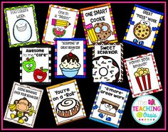 *The Teaching Oasis*: Food Themed Brag Tags Classroom Rewards, Classroom Behavior Management, Classroom Setup, Preschool Classroom, Kindergarten, Behavior Rewards, Behaviour Management, Behavior Charts, Class Management