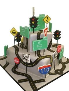 Road Sign Cake. Great for a sweet 16