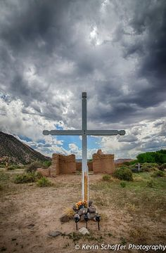 Ruins of the adobe church at Santa Rosa de Lima, originally built around 1744, near Abiquiu, NM.Kevin Schaffer