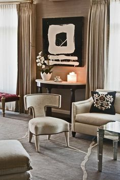 The Klismos chair by Donghia, yum yum---swoon swoon over everything about this room!