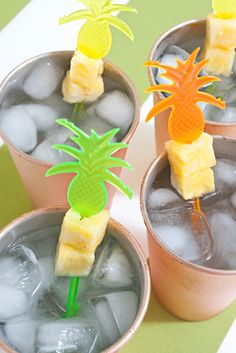 Delicious and simple, Pineapple Mule cocktail recipe -- perfect for your summer wedding or bridal shower!
