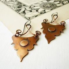 "Copper earrings ""Adele"", By Black Daisy Designs: Anna-Karin Hallström"