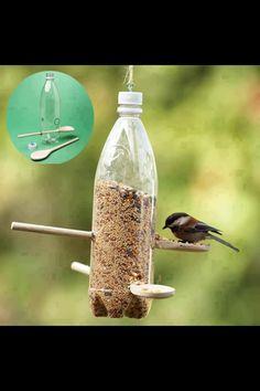 Récup' cuillère bois - mangeoire pour oiseaux