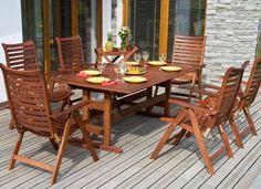 Muebles de madera para jardin exterior
